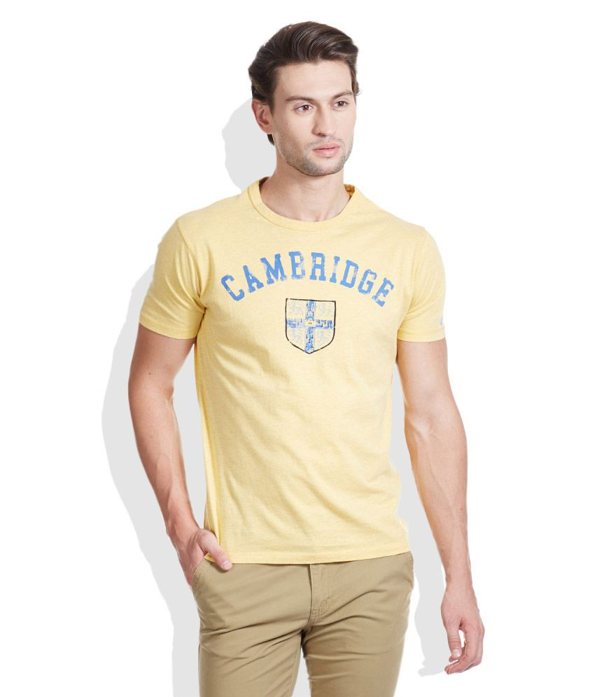Pepe Jeans Yellow Round Neck T-Shirt
