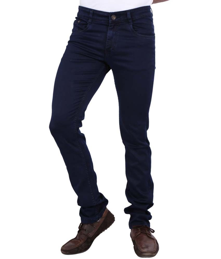 Awack Killer-Blue Coloured Cotton-Silky Regular Fit Authentic Men's Denim