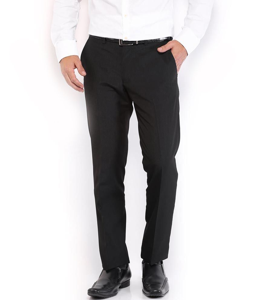 Ivans Black Formal Premium Smart Trouser