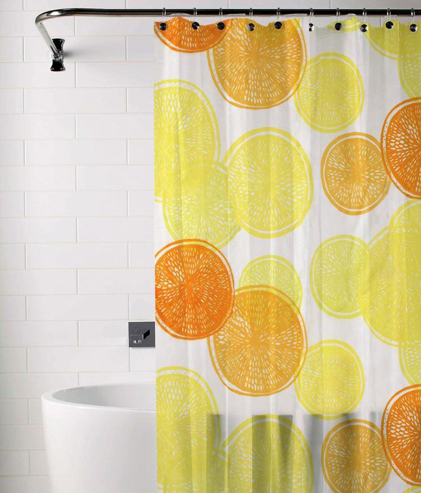 Skipper Yellow & Orange Shower Curtain