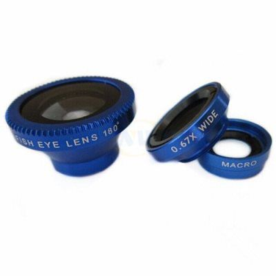 Fotonica Universal 3 in 1 Cell Phone Camera Lens Kit-Blue