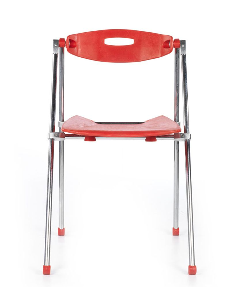 Bluebell Ergonomic Acacia Natural Finish Cafeteria Chairs In Red