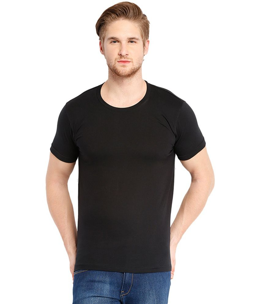 Cnmn Black Half Sleeves Cotton T-shirt