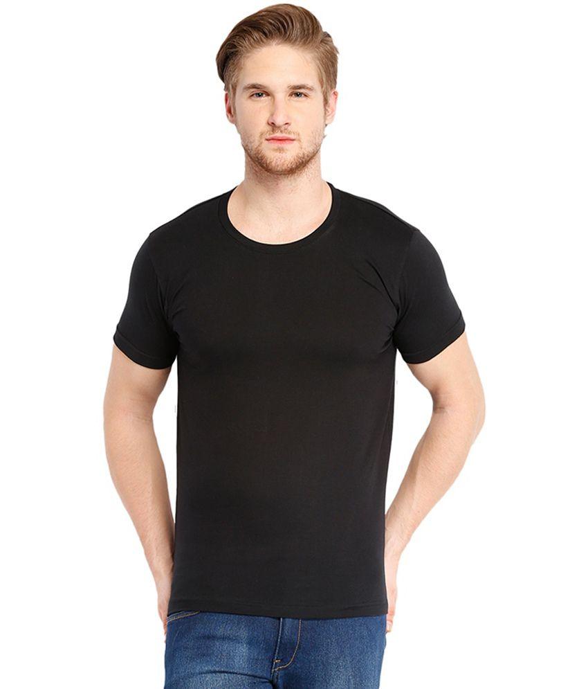 Cnmn Black Half Sleeves Cotton T-shirt