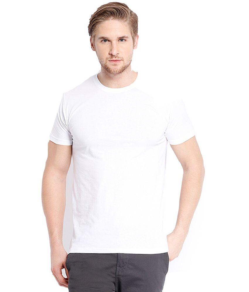 Cnmn White Half Sleeves Cotton T-shirt