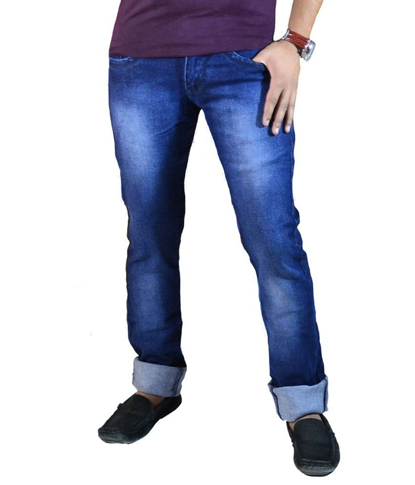 Merril Loung Blue Cotton Jeans