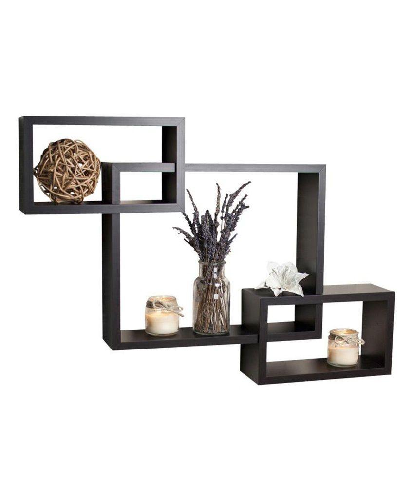 usha furniture matte wooden floating shelf wall shelf storage rh snapdeal com