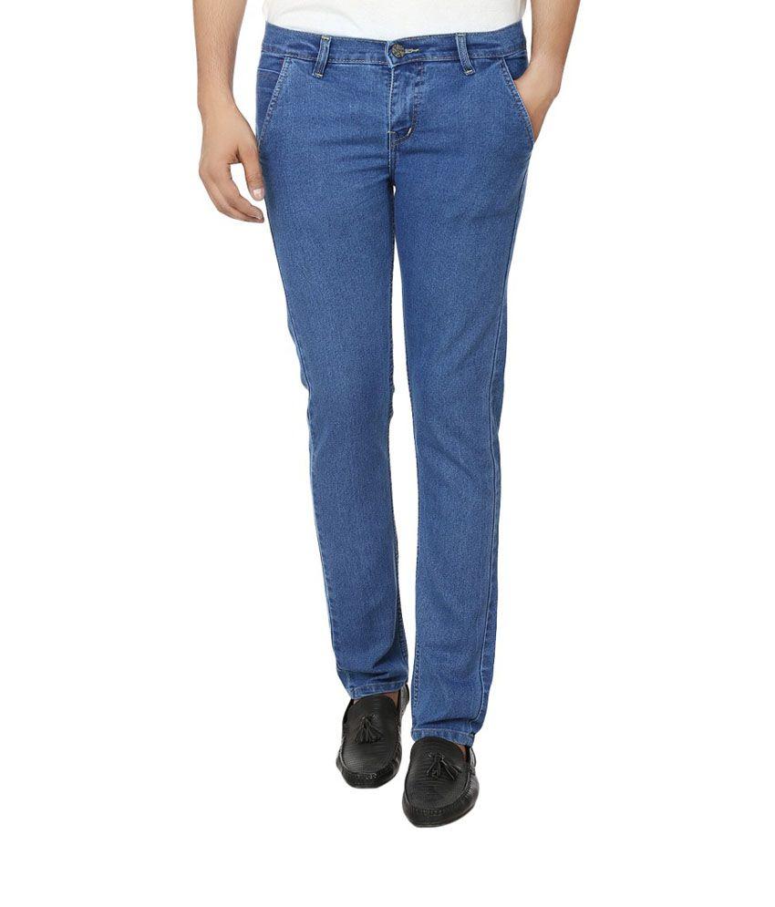 Alan Woods Lycra Stretchable Blue Jeans