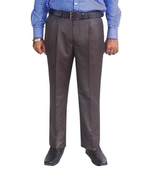 Kinger Brown Pleated Trousers