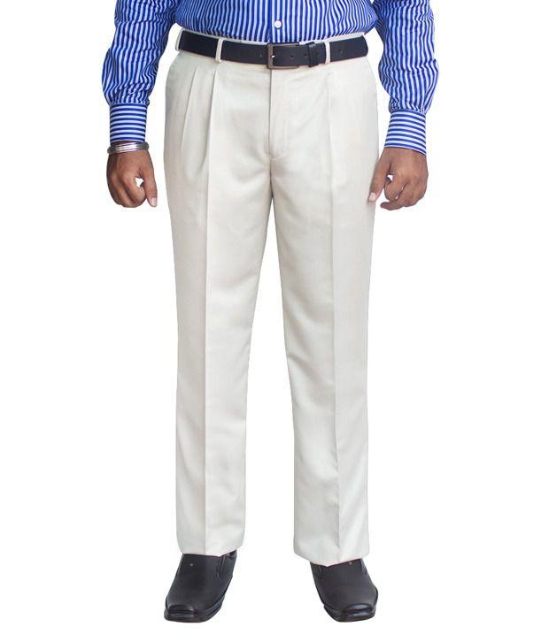 Kinger Light Grey Pleated Trouser