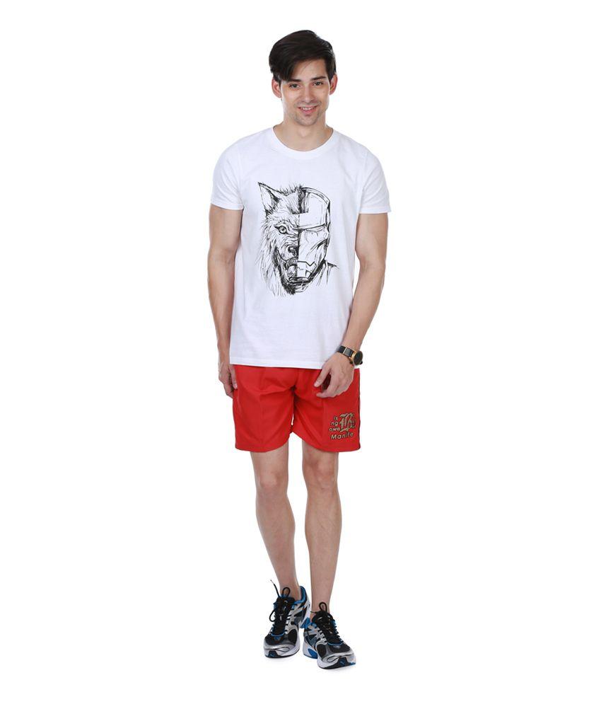 Nu9 Red Polyester Short