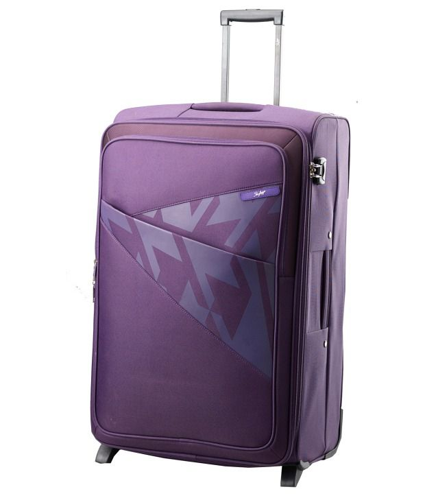 Skybags Large Size Purple Polyester Venice 75 Cm 2 Wheel