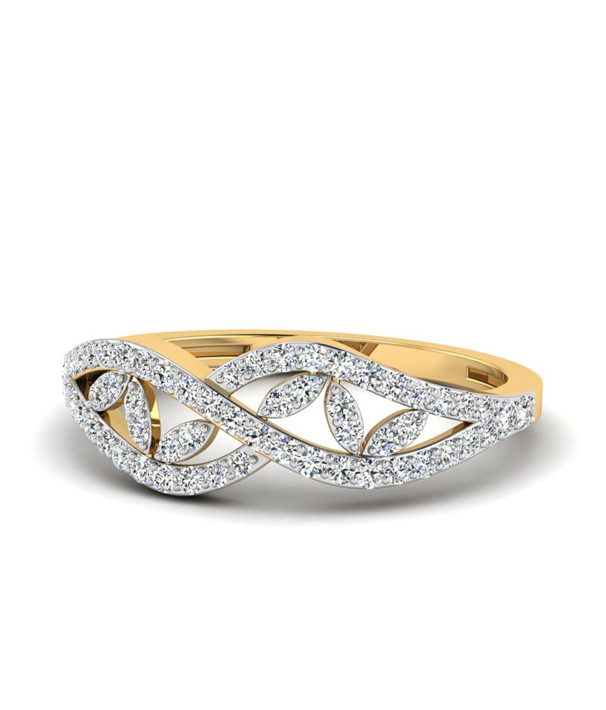 WearYourShine PC Jeweller 18KT Gold The Quisilla Diamond Ring