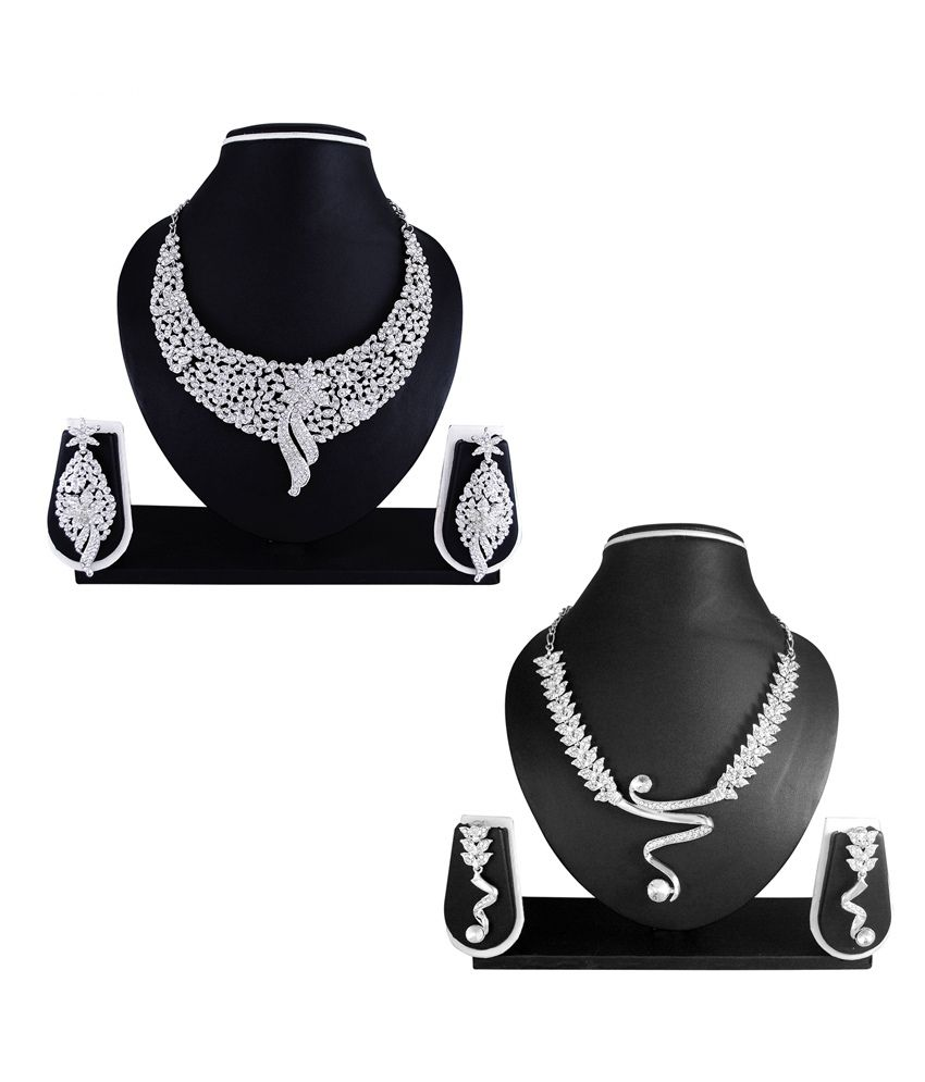 Atasi International Falak Combo of Wedding & Engagement wear Necklace Sets