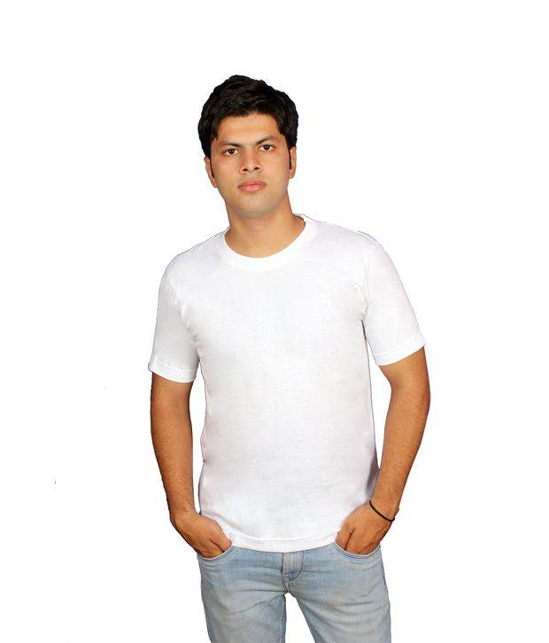 Priest Trading White Round Neck Cotton T-shirt