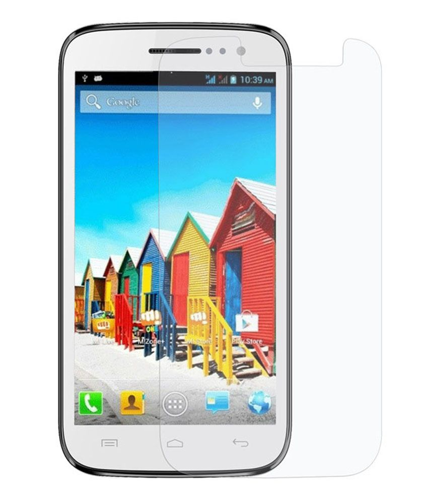 Uni Mobile Care Clear Screen Guard For Micromax Canvas Play Q 55