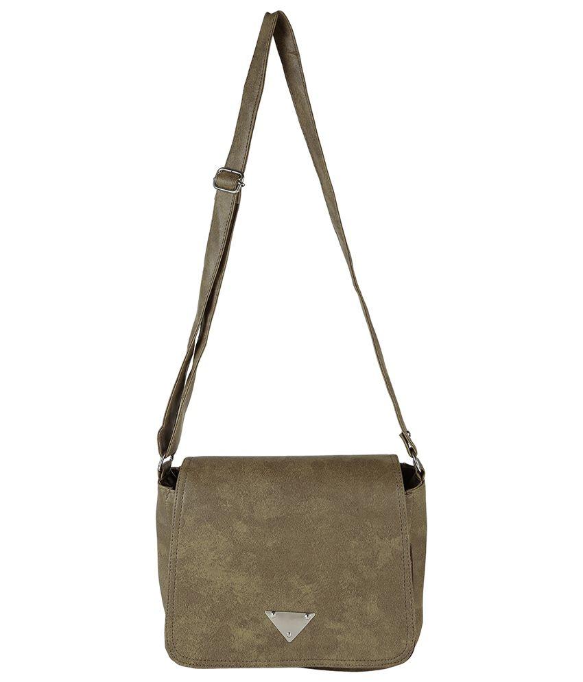 Bags Craze Khaki Sling Bag