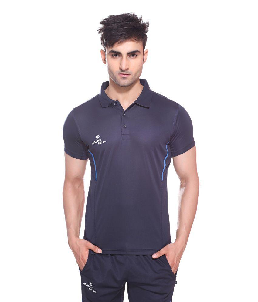 Sport Sun Sportswear Navy Half Sports T-Shirt
