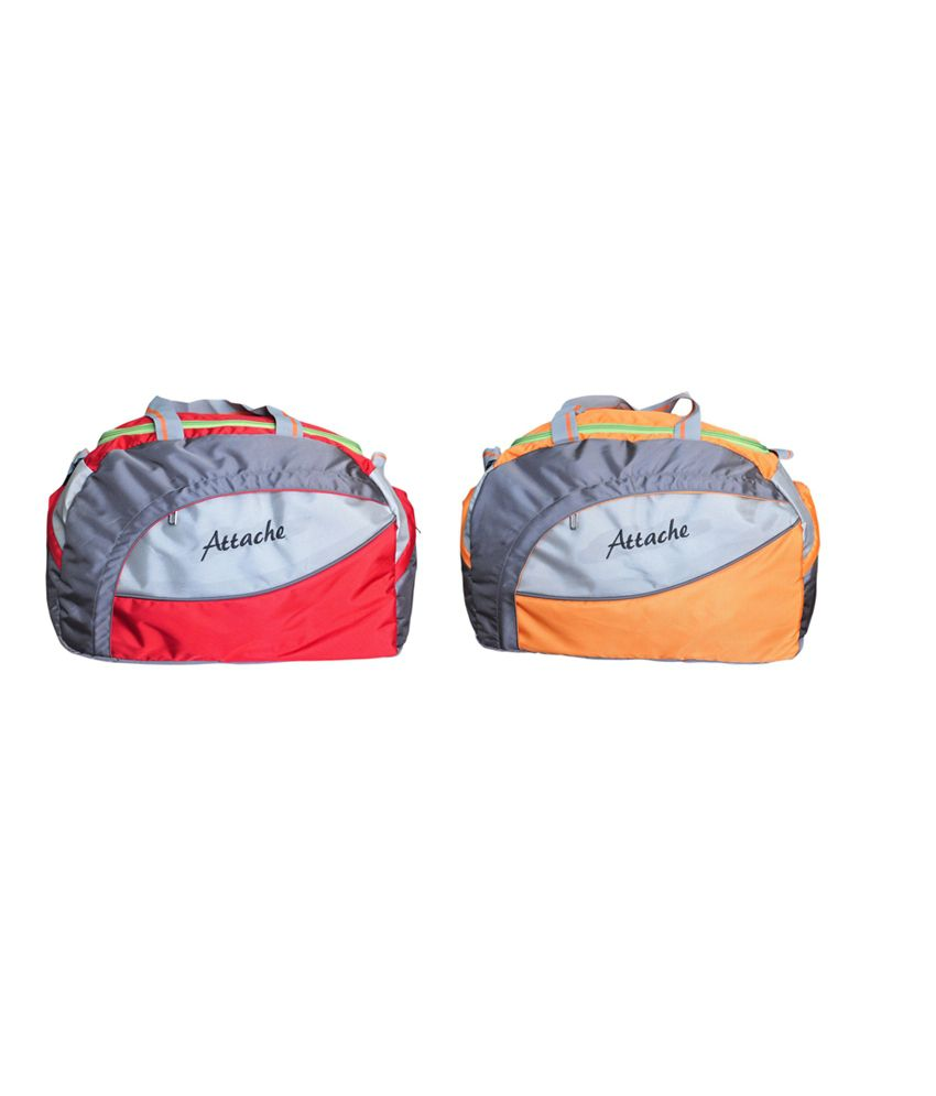 Attache Travel & Set Of 2(Red &Orange ) gear Gym Bag