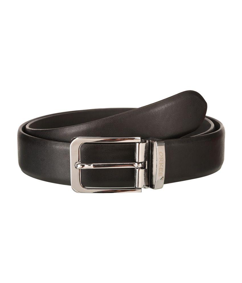 Orkee Black Smooth Men Formal Belt