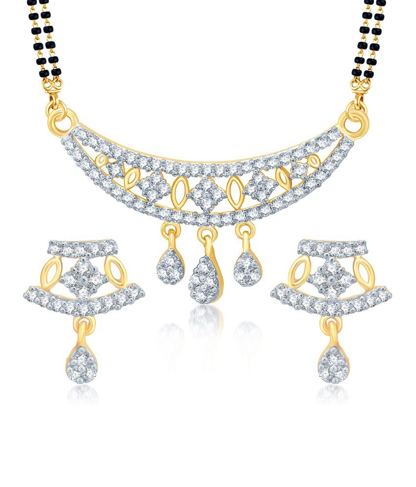 Sukkhi Delightly Gold and Rhodium Plated Cubic Zirconia Stone Studded Mangalsutra Set (Mangalsutra Mala may vary from the actual image)