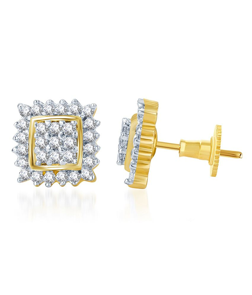 Sukkhi Pleasing Gold and Rhodium Plated CZ Earring