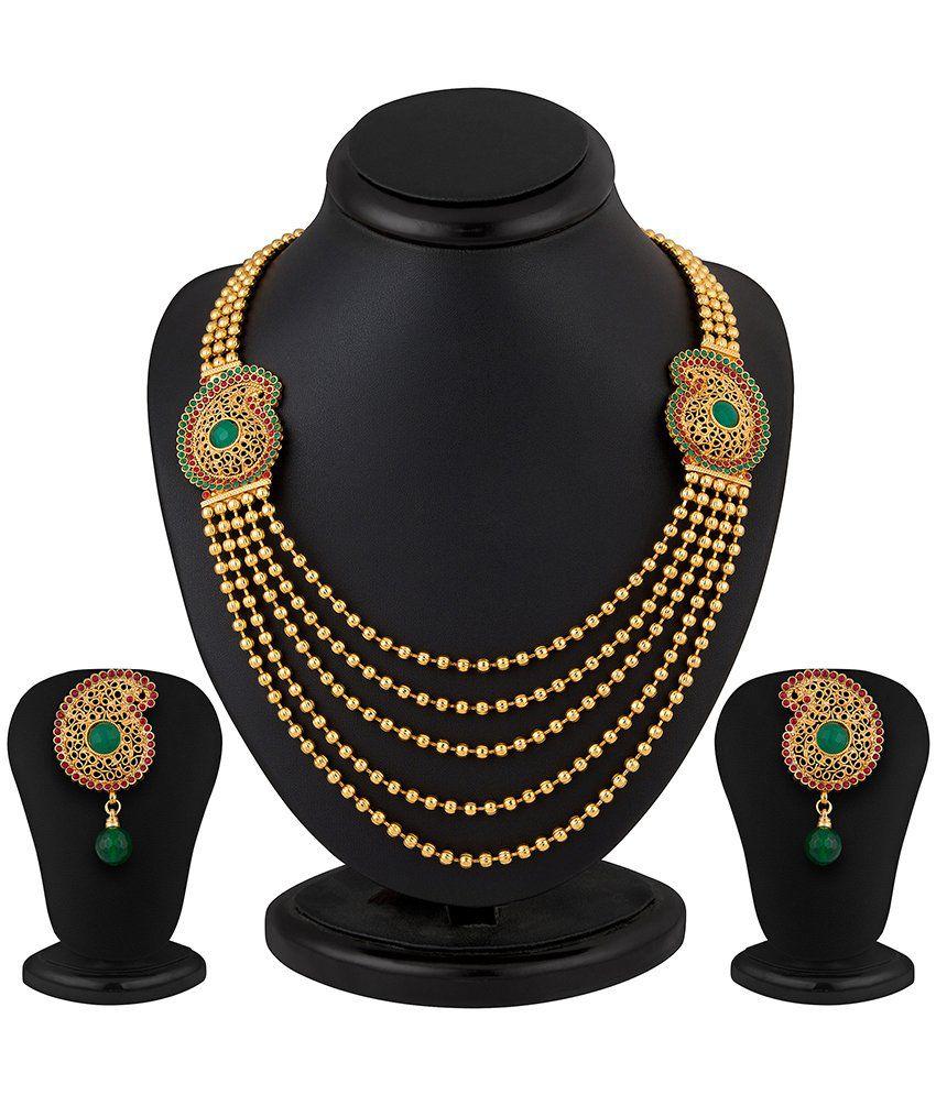 Sukkhi Ritzzy 5 String Kundan Stone Necklace Set