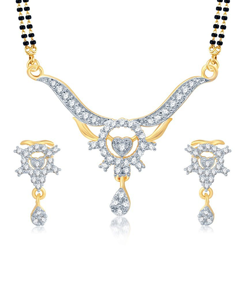 Sukkhi Stunning Gold and Rhodium Plated Cubic Zirconia Stone Studded Mangalsutra Set (Mangalsutra Mala may vary from the actual image)