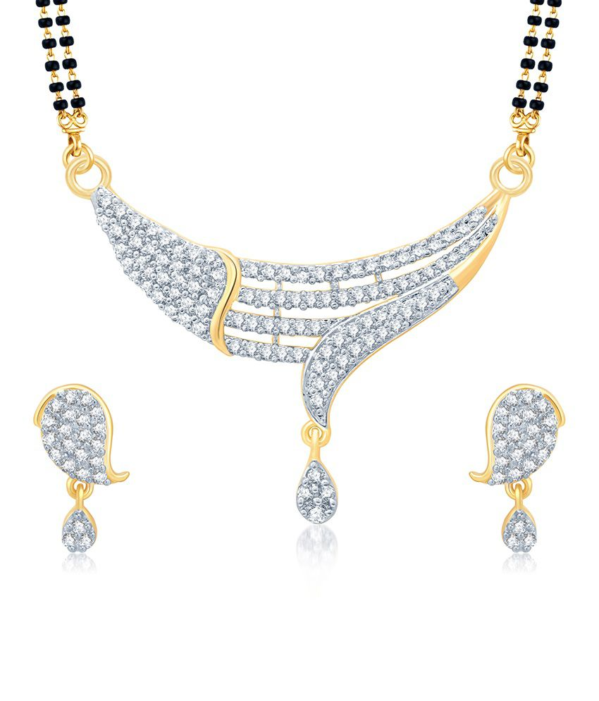 Sukkhi Sublime Gold and Rhodium Plated Cubic Zirconia Stone Studded Mangalsutra Set (Mangalsutra Mala may vary from the actual image)