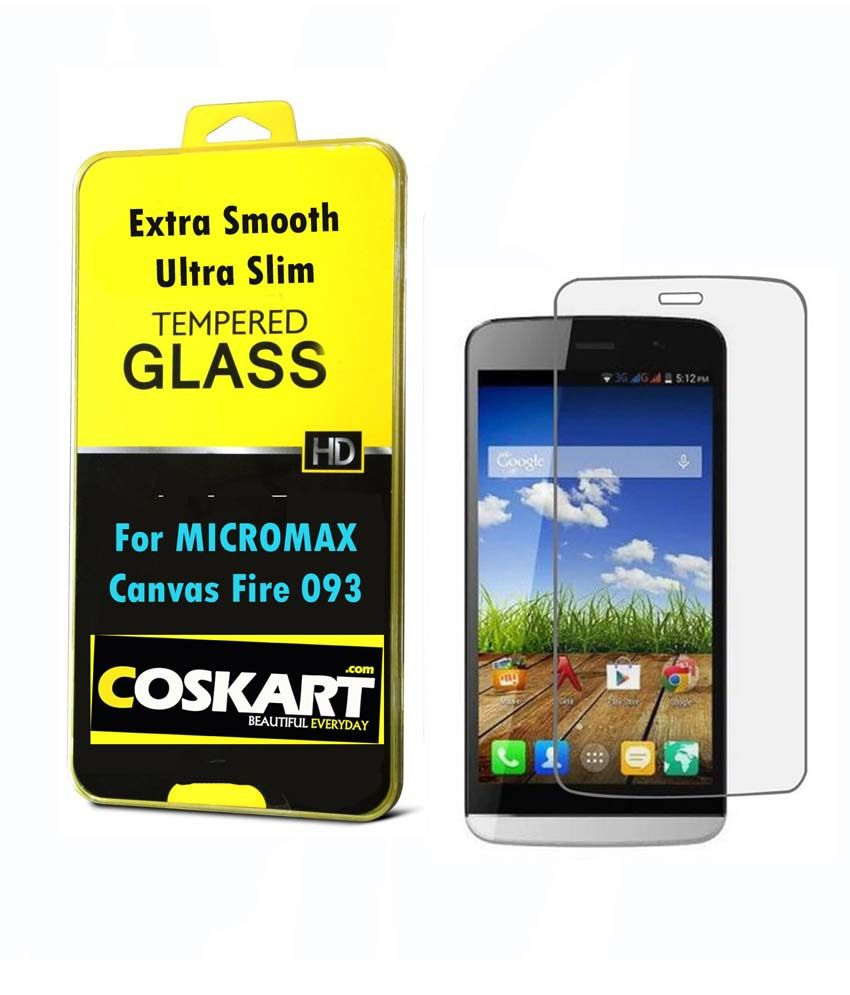 Micromax Canvas Fire 093 AntiGlare Screen Guard by Coskart
