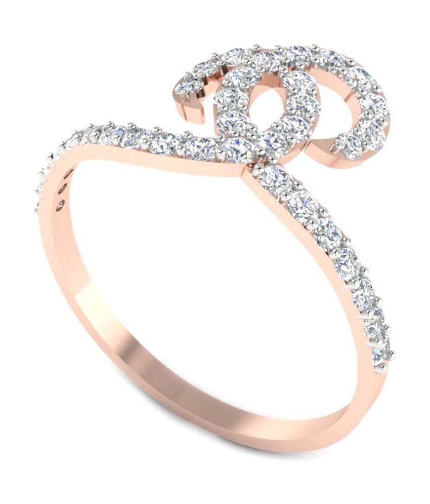 Goyam Jewellery 14kt Gold Diamond Ring