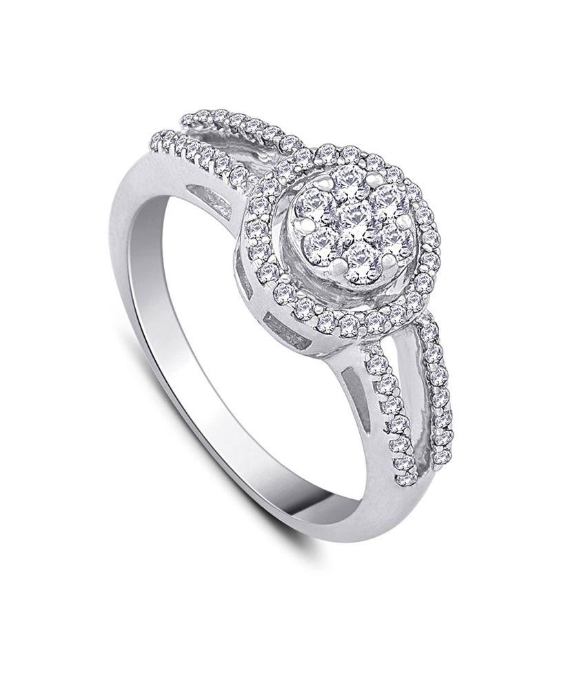 HSK IGI Certified Silver 0.49 Carat Diamond The Diamond Bouquet Ring For Women