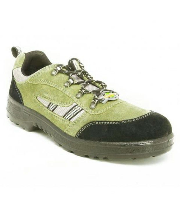 buy liberty green leather safety shoes at low price
