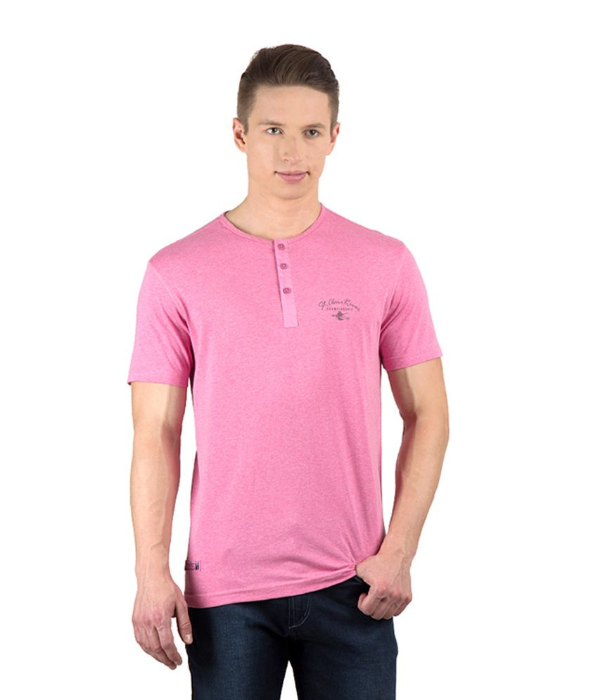 Wilkins & Tuscany Pink Henley T-Shirt