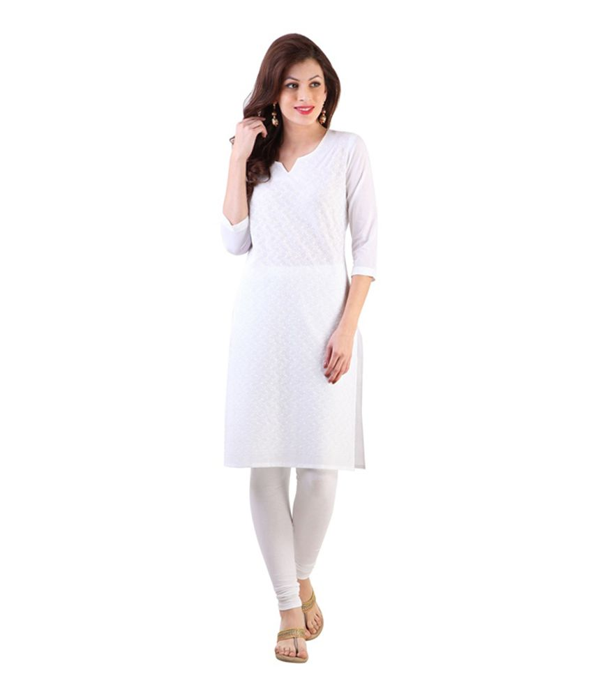 cffd554cf94b Bling India White and Grey Cotton Plain Dress Material - Buy Bling India  White and Grey Cotton Plain Dress Material Online at Best Prices in India  on ...