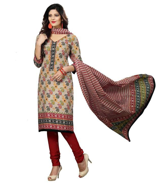 Jenny Exclusive Designer Fancy Printed Cotton Dress Material