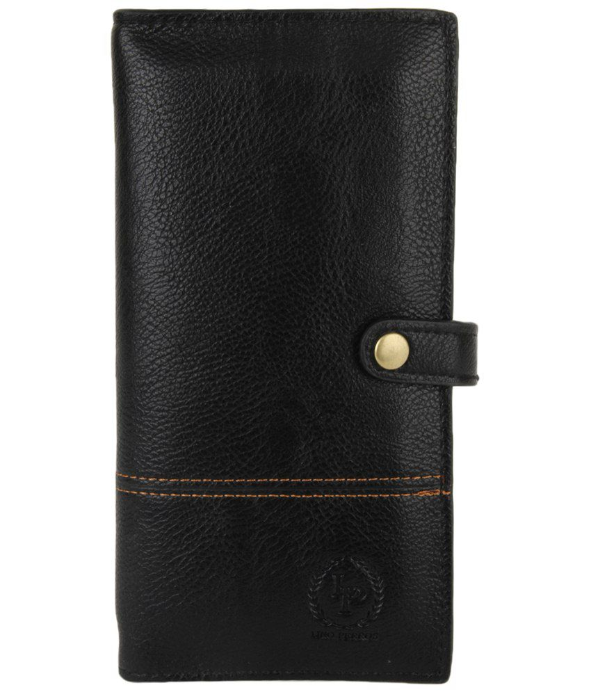 Lino Perros Jet Black Casual Wallet For Women