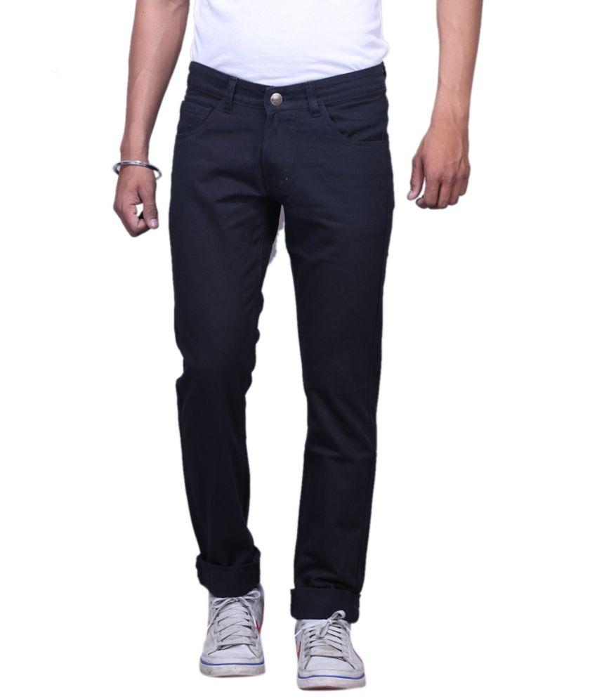 X-cross Blue Blended Cotton Regular Jeans