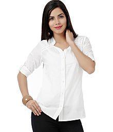 Eavan White Cotton Shirts