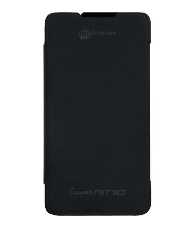 Evoque Flip Cover For Micromax Canvas Nitro A310 Black