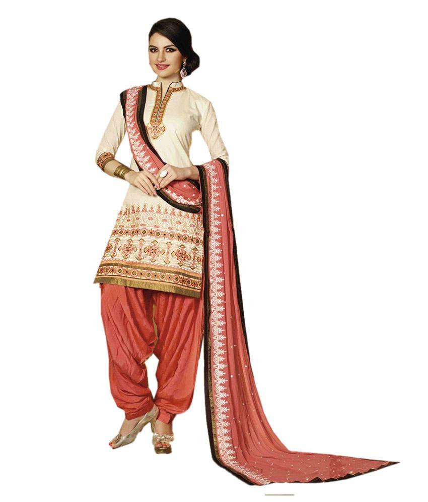 Sardarni Boutique Multi Color Cotton Embroidered Dress