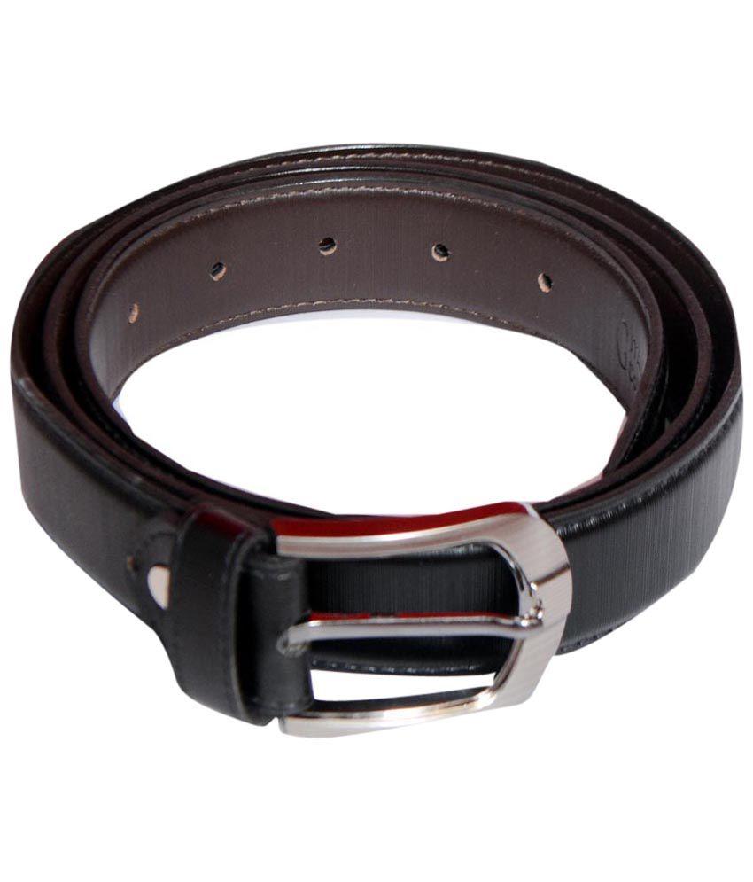 Zuby Black Leather Belt