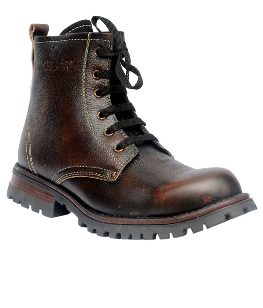 Big Boy Brown Leather Boots