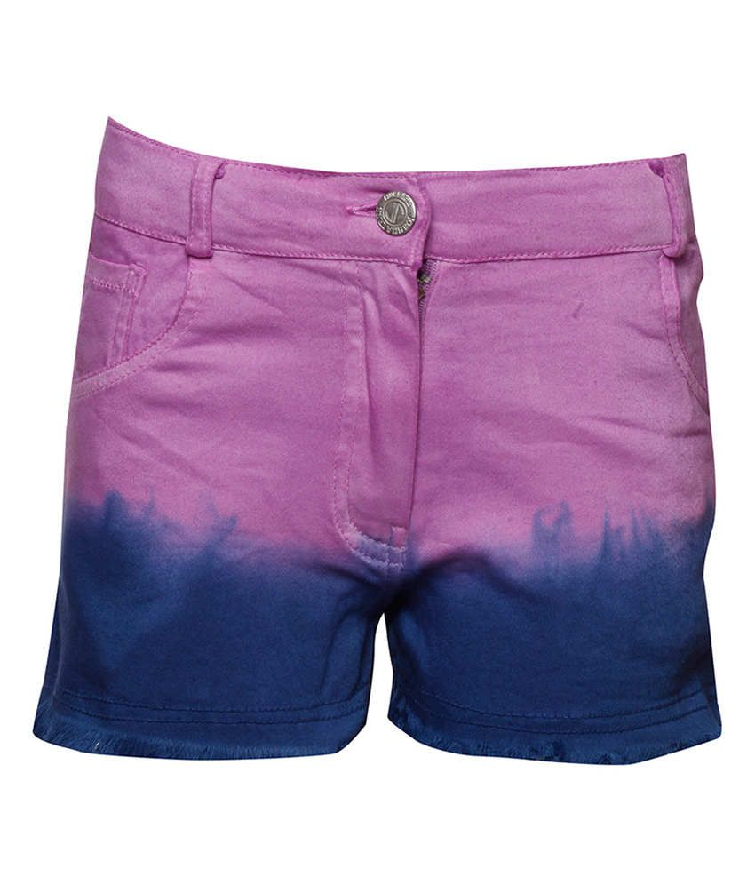 Joshua Tree Purple Cotton Solid Shorts