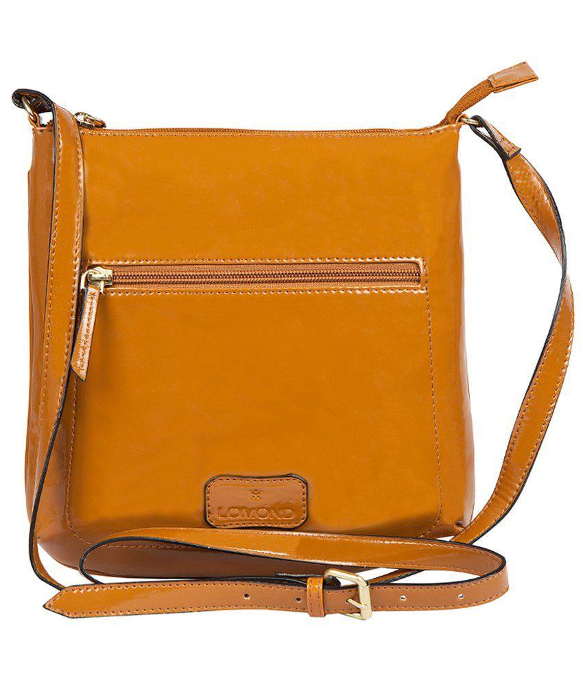 Lomond P.U. Sling Bag-Tan