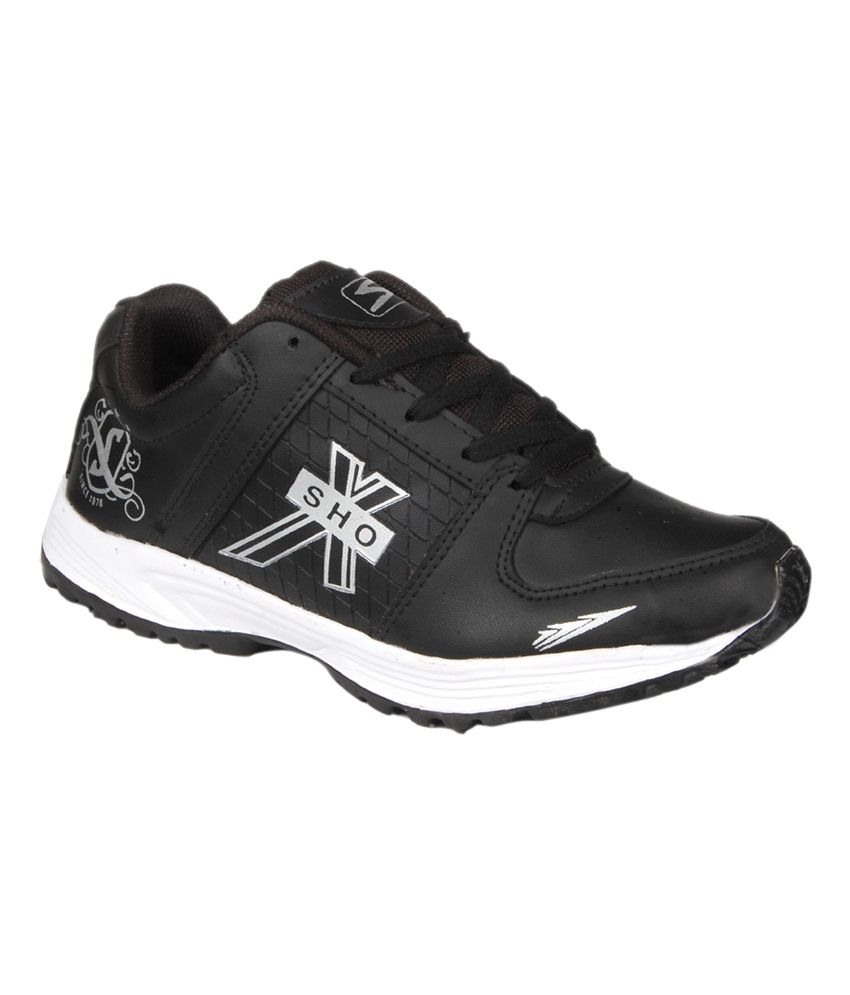buy shox black sport shoes for snapdeal