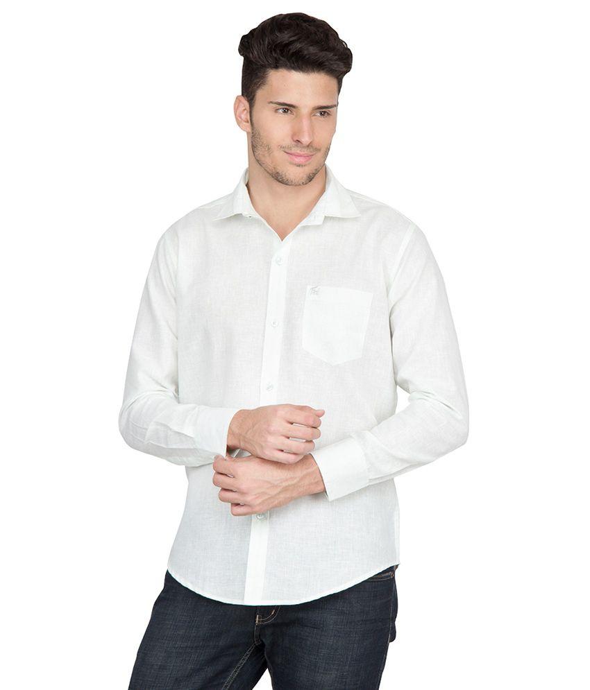 Aj Dezines Green Linen Blend Slim Fit Casual Shirt