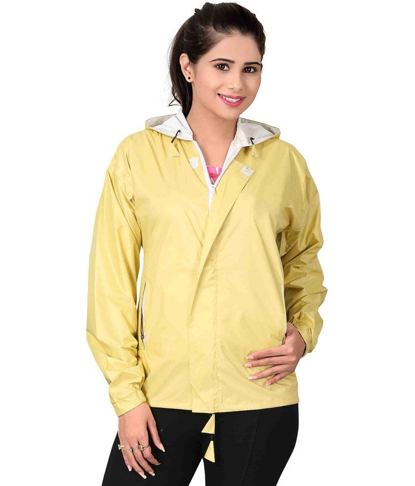 Brinley Yellow Nylon Hooded Windcheater