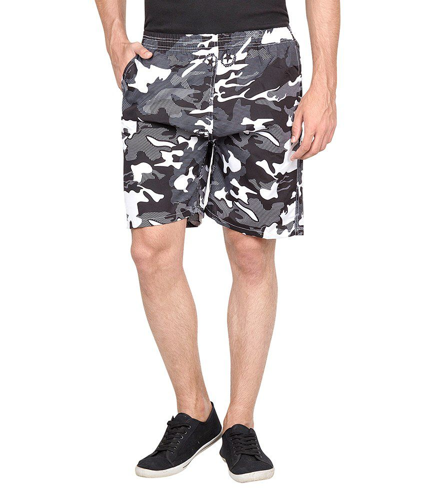 Camey Polyester Printed Multicolor Shorts for Men