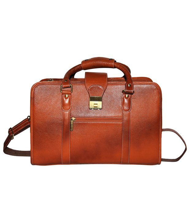 C Comfort Tan Brown Laptop Bag